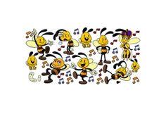 Naklejka z Pszczółkami