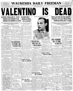 Rudolph Valentino dead
