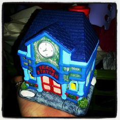 My newest house for my Christmas village....Train Station by Lauren Brady