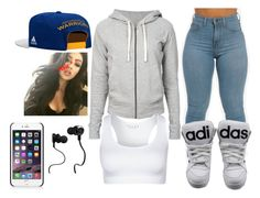 """""""Music is everything <3"""" by caroxp ❤ liked on Polyvore featuring James Perse, Falke, adidas, NIKE and Monster"""