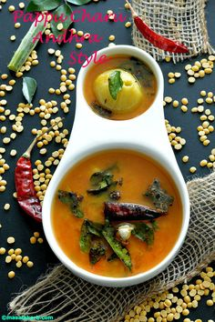 Pappu Charu Andhra Style is a comforting & easy to make lentil soup. It's a diluted version of sambar but doesn't have several special spices like sambhar.