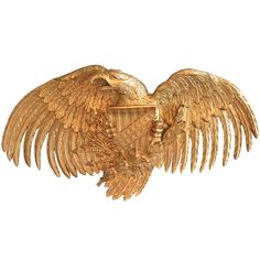 A Large Carved and Gilded American Eagle | 1stdibs.com
