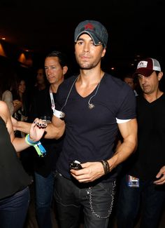 2012 iHeartRadio Music Festival - Day 2 - Backstage singer Enrique Iglesias appears backstage during the 2012 iHeartRadio Music Festival at the MGM Grand Garden Arena on September 22, 2012 in Las Vegas, Nevada.