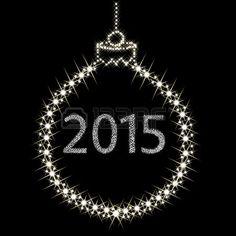 Feliz Año Nuevo 2015 de Estrellas. Vector Foto de archivo.