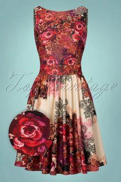 Lady V Tea Dress Red Rose in Marchella Fabric 102 59 21792 20170721 0011wv