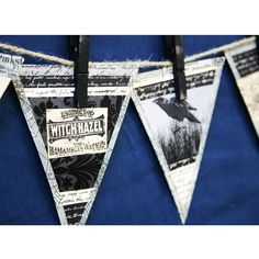 banner from paper triangles & clothespins