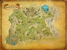LOTRO map of Dunland