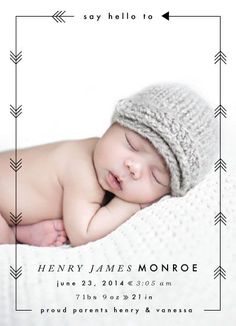 Another cute birth announcement idea!