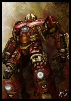 Avenger age of ultron hulkbuster painting art