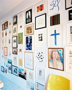 From Blank Wall to Gallery Wall In 7 Simple Steps via @MyDomaine