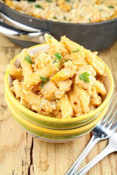 Creamy Swiss BBQ Chicken Penne Pasta Recipe | Miss in the Kitchen