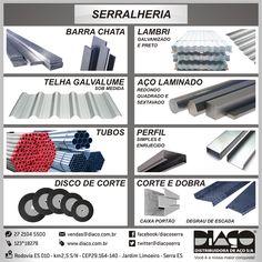 Linha Diaço para Serralheria - #diaco #serra #es