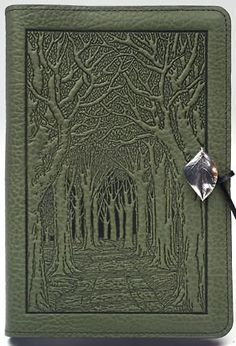 hand-tooled leather binding