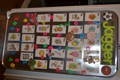 Magnetic Kids Board - use and change as they grow I had to repin this because of the name! :)