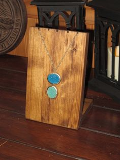 Would be super easy to make myself!! Necklace Display Jewelry Display Wooden by KDragonflyDesigns, $24.00
