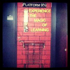 Platform 9 3/4 classroom door. I'm a Harry Potter nerd for sure.