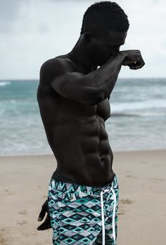 oneblentman:   kearata:   Orvin Febuary   i wish i... - Dark Skinned men are handsome