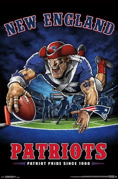 "New England Patriots ""Patriot Pride Since NFL Theme Art Poster - Trends International – Sports Poster Warehouse New England Patriots Wallpaper, Nfl New England Patriots, Patriots Fans, England Football, Football Team Logos, Football Art, Football Posters, Football Signs, Sports Posters"