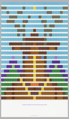 Swoody Pirtle, Christmas poster, composed of 550 squares of pantone color. n.d. Via Cooper Hewitt