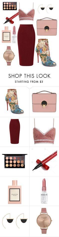 """""""be a Queen tonight."""" by gilstel ❤ liked on Polyvore featuring Christian Louboutin, Vivienne Westwood, Roland Mouret, Zimmermann, MAC Cosmetics, Gucci, Rodin, Witchery and Olivia Burton"""