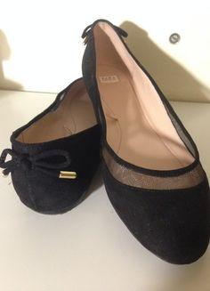 Kup mój przedmiot na #vintedpl http://www.vinted.pl/damskie-obuwie/balerinki/13881035-czarne-balerinki-zaraz-z-kokardka