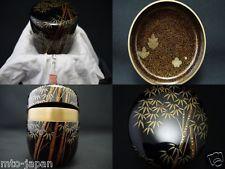 Japan WAJIMA Lacquer Tea caddy Bamboo makie Natsume Great ITTSUCHO ICHIGO - Maria Elena Garcia -  ► www.pinterest.com/megardel/ ◀︎