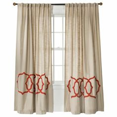 thinking these might be my nursery curtains...keep going back and forth but I love that they aren't overly masculine or feminine and I don't think I will get sick of this orange too fast since its so minimal