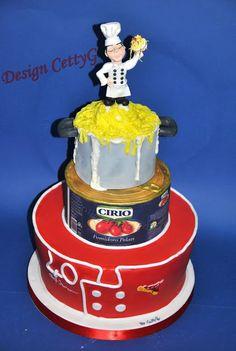 Le torte decorate di CettyG...: 40° Compleanno Torta Chef