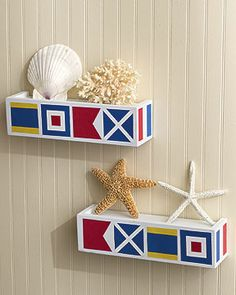 nautical window boxes | One New Sealed Package Contains: 25 WALLIES Wallpaper Cutouts in the ...