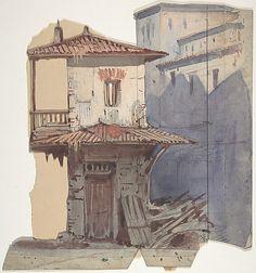 Design for a Stage Set at the Opéra, Paris Eugène Ciceri (French, Paris 1813–1890 Fontainebleau) Date: 1830–90 Medium: Watercolor, gouache, over graphite