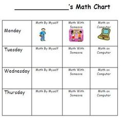 """""""Daily 3 Math"""" It's based on Daily 5 for literacy only it's for Math."""