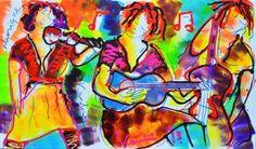 Jacob Kanbier - Trio the band Band, Painting, Window, Google, Modern Art, Sash, Painting Art, Windows, Paintings