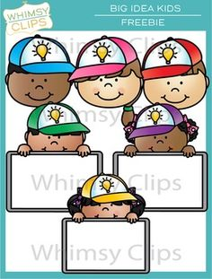 Happy Teacher Appreciation Day! Thank you so much for all you give, all you endure, and all you do! Put your thinking cap on (Yes, I'm a little corny) and come up with fun ways to use this clip art freebie. The possibilities are truly endless. This set includes 3 kids (faces) wearing caps and 3 kids wearing caps with blank signs.