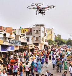 Disso Voce Sabia?: Índia se torna primeiro país a aprovar Drones ARMADOS para controlar a multidão