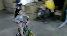 When this little girl drifted into the hall of fame of bike parking.   22 Examples Of The Most Gangsta Sh*t That Has Ever Happened