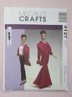 New and Uncut Out Of Print Tyler, Alex,Gene Dolls Clothes Pattern - 4127