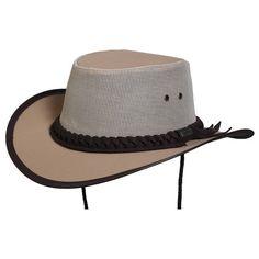 148e41ea Conner - Aussie Canvas Mesh Hiker Hat. Hiking HatAussie HatAustralian Outback  HatOutdoor HatsSafari HatLeather ...