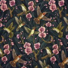 Hummingbird Pattern Art Print