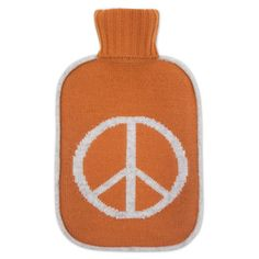 Cashmere Peace Hot Water Bottle by jonathanadler: Wonderfully decadent. Made of 100% hand knitted cashmere with a button closure. Comes with rubber hot water bottle with a stopper. Also available in grey #Hot_Water_Bottle