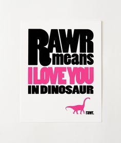 Brontosaurus RAWR Print