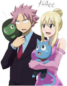 Most popular tags for this image include: fairy tail, happy, nalu, natsu and lucy heartfilia Arte Fairy Tail, Fairy Tail Happy, Fairy Tail Family, Fairy Tail Natsu And Lucy, Fairy Tail Guild, Fairy Tail Couples, Fairy Tail Ships, Fairy Tail Anime, Itachi