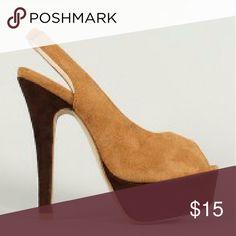 Tan color block heel Tan color block pumps FINAL PRICE Shoes Heels