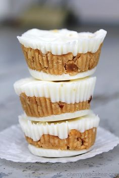 White chocolate peanut butter cups..I love making these!