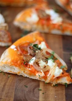 Roasted Red Pepper Pizza with Goat Cheese and Chicken Sausage