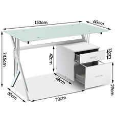 UK PC Table Computer Desk White Work Station Home Office Furniture DIY