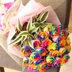 Express your love with tie-dye roses bouquet