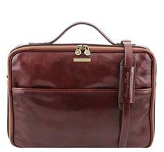 Tuscany Leather Italian Leather Laptop Case Vicenza