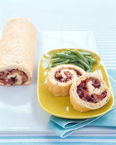 Sausage-and-Tomato Egg Roll-Up Recipe | Martha Stewart