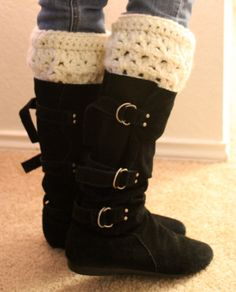 Chunky Crochet Boot Cuffs 1 Pair by CEDdesigns on Etsy, $18.00
