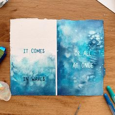 NEW PRINT! 🎉 🌊 Y'all have been asking for this print for years — you can finally grab one! ~ Website in bio ~ Tag a friend who knows what… Environmentally Friendly Packaging, Never Grow Up, Small Cards, Print Packaging, New Print, Word Art, Things To Come, Waves, Watercolor